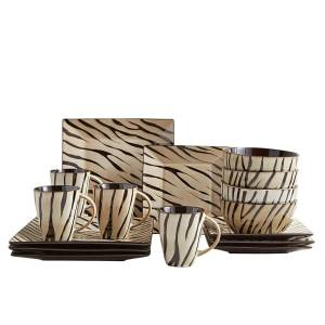Zebra-Dinnerware-Set