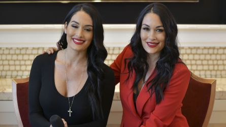 Nikki Bella and Brie Bella speaking