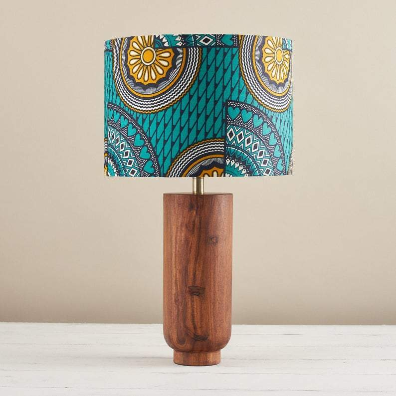 bespoke binny african print lampshade black-owned home brands