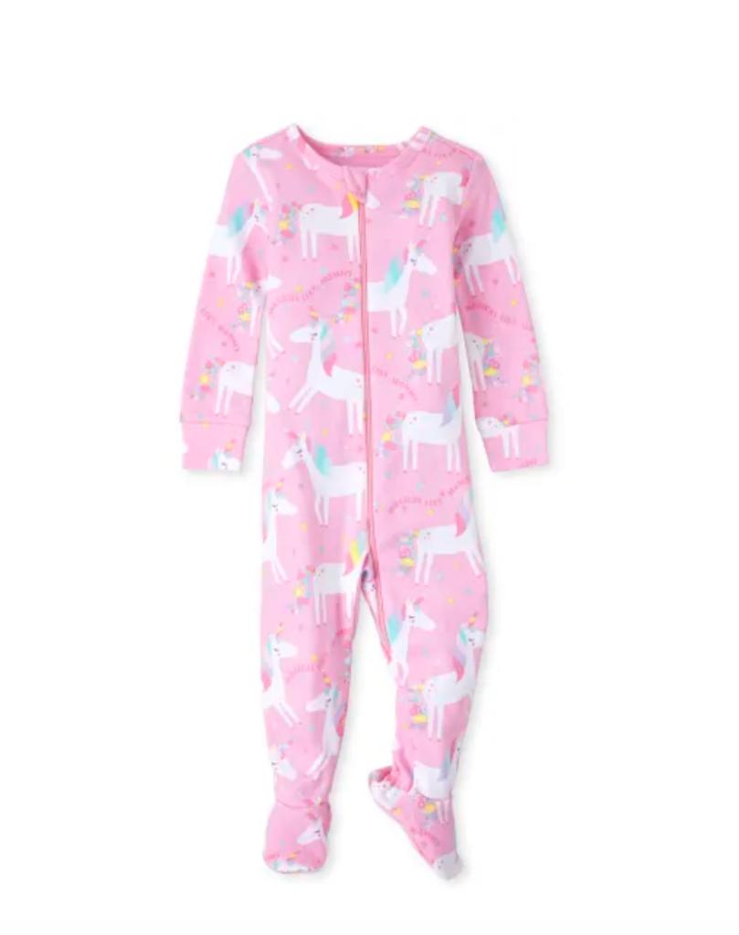 childrens place unicorn pajamas