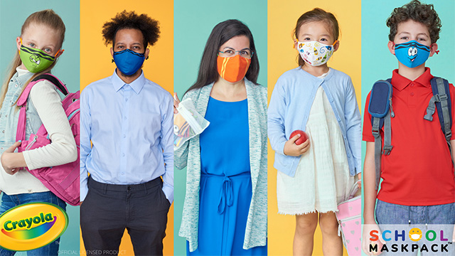 Crayola Now Makes Kids Face Masks, for a Safe (& Colorful!) Back-to-School