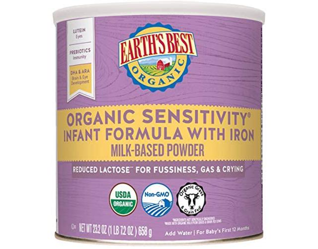 earths best organic baby formula