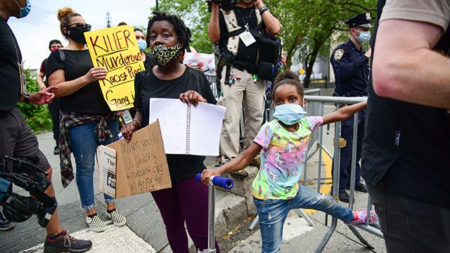 Children Attend Black Lives Matter Justice for George Floyd ...