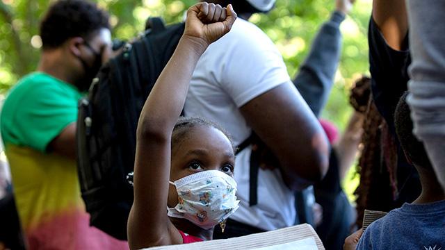 Girl at Black Lives Matter protest