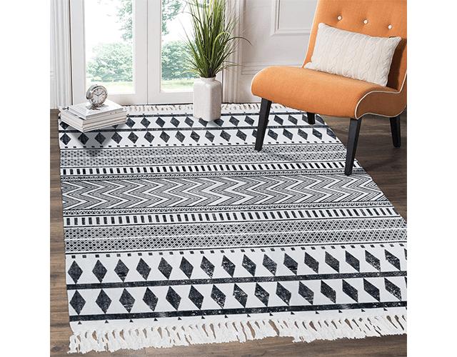 Hebe cotton machine washable rug amazon