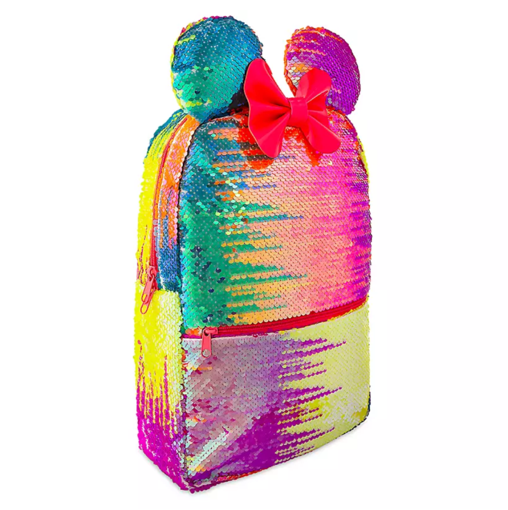 rainbow disney collection sequined backpack