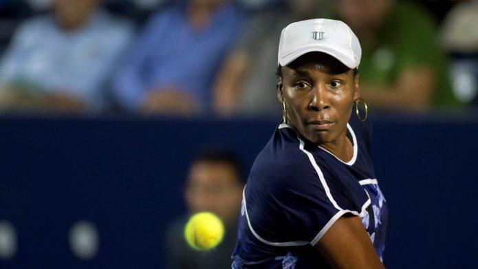 Venus Williams of USA in action