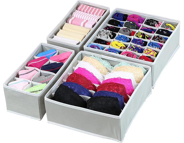 simple houseware best underwear sock drawer organizer amazon