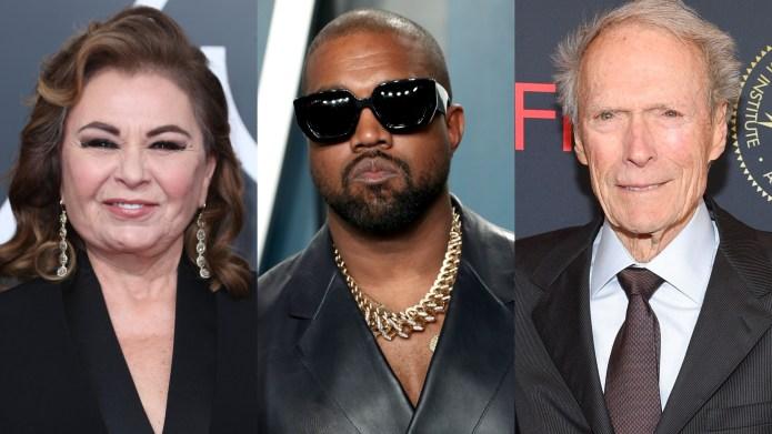 Roseanne Barr, Kanye West, Clint Eastwood