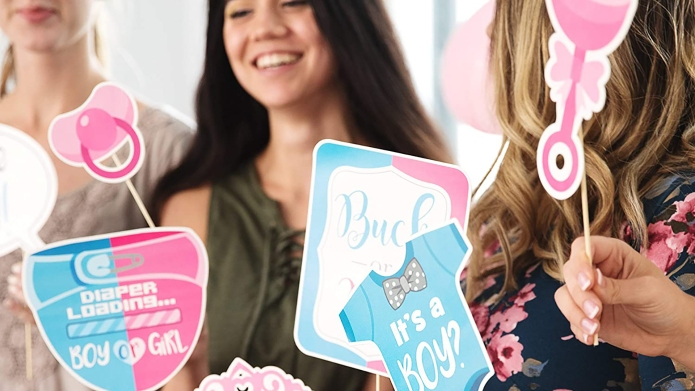 best gender reveal photo booth props