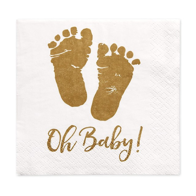 100 Baby Shower Napkins