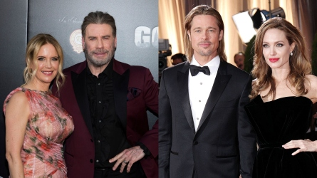 John Travolta, Kelly Preston, Brad Pitt,