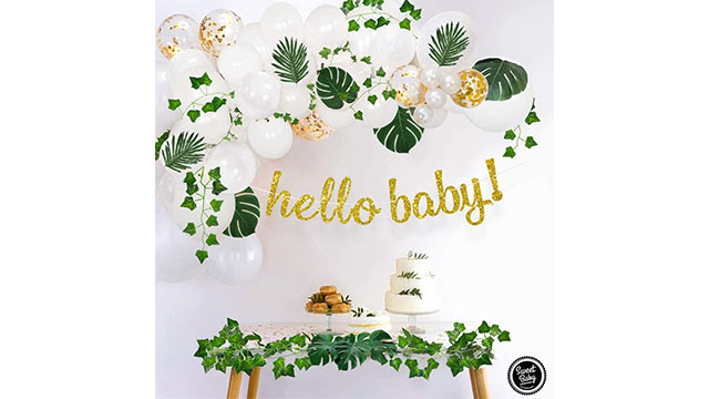 ngọt ngào công ty em bé tốt nhất tắm giả cây xanh garland amazon