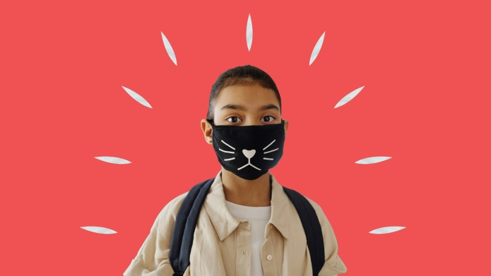 child in mask anxious covid