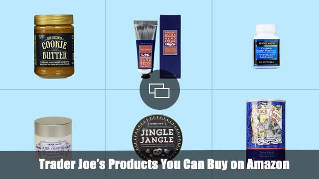 Trader Joe's products on Amazon