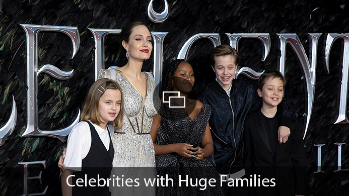 Angelina Jolie, Vivienne Jolie-Pitt, Zahara Jolie-Pitt, Shiloh Jolie-Pitt and Knox Leon Jolie-Pitt
