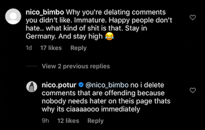 Nicole Poturalski Instagram comments