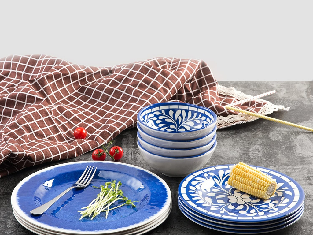 Chic Melamine Dish Sets That Will Make You Want to Toss Out Paper Plates for Good