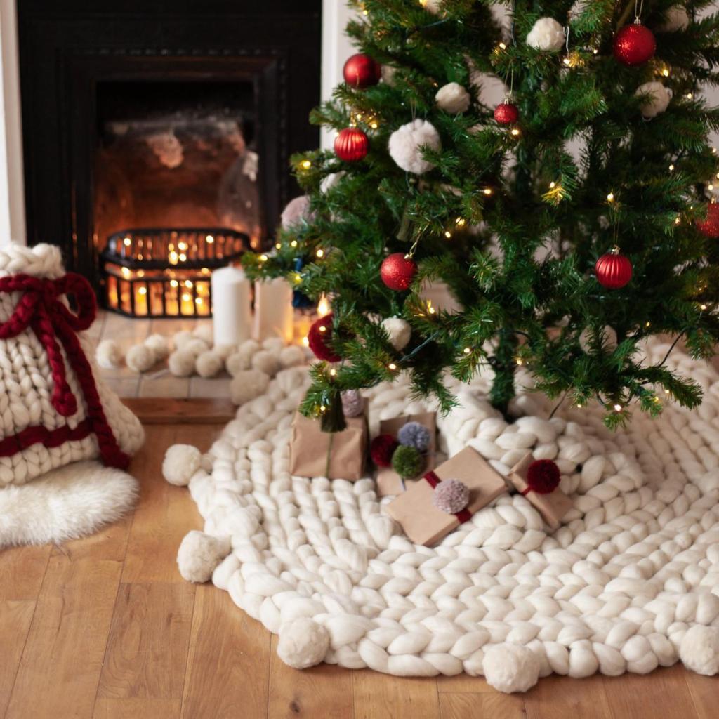 knitted etsy christmas tree skirt