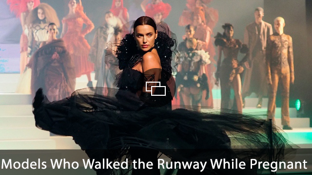 Irina Shayk walking on the runway during the Jean-Paul Gaultier Haute Couture Spring/Summer 2020 show as part of Paris Fashion Week.