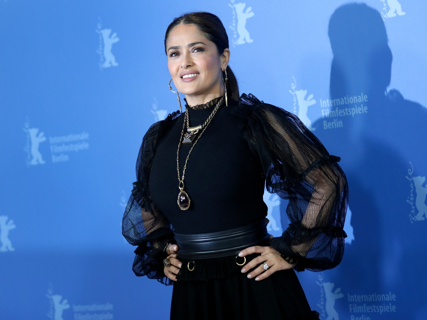 Salma Hayek Celebrates 54th Birthday In Bright Yellow Cut Out Swimsuit Sheknows
