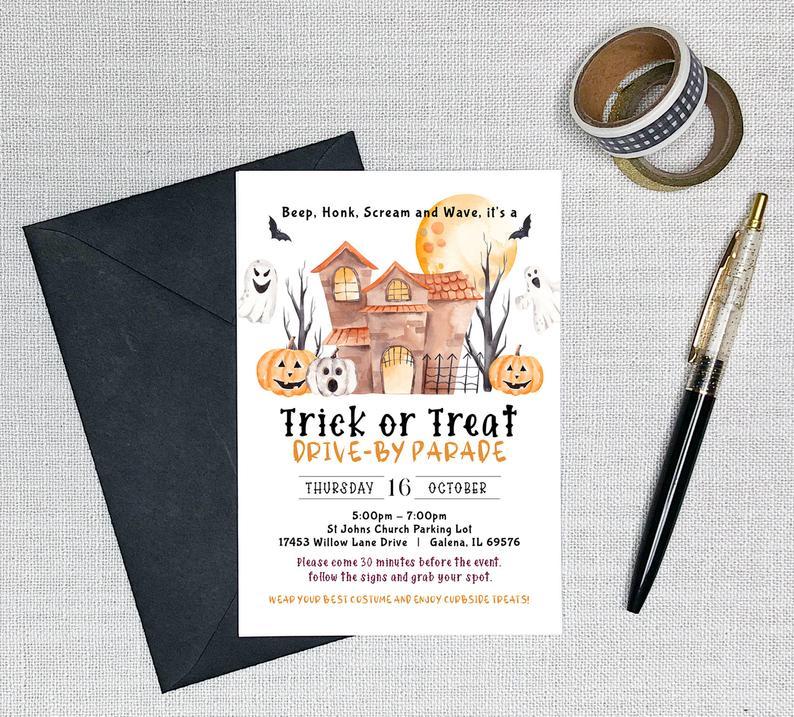 trick or treat, invite
