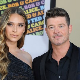 April Love Geary, Robin Thicke at