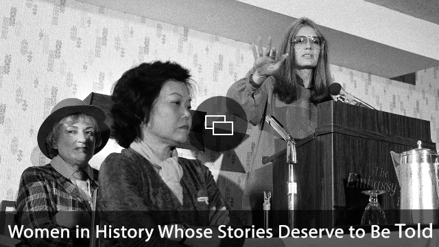 Bella Abzug, left, and Patsy Mink of Women USA sit next to Gloria Steinem as she speaks in Washington where they warned presidential candidates that promises for women's rights will not be enough to get their support in the next election.