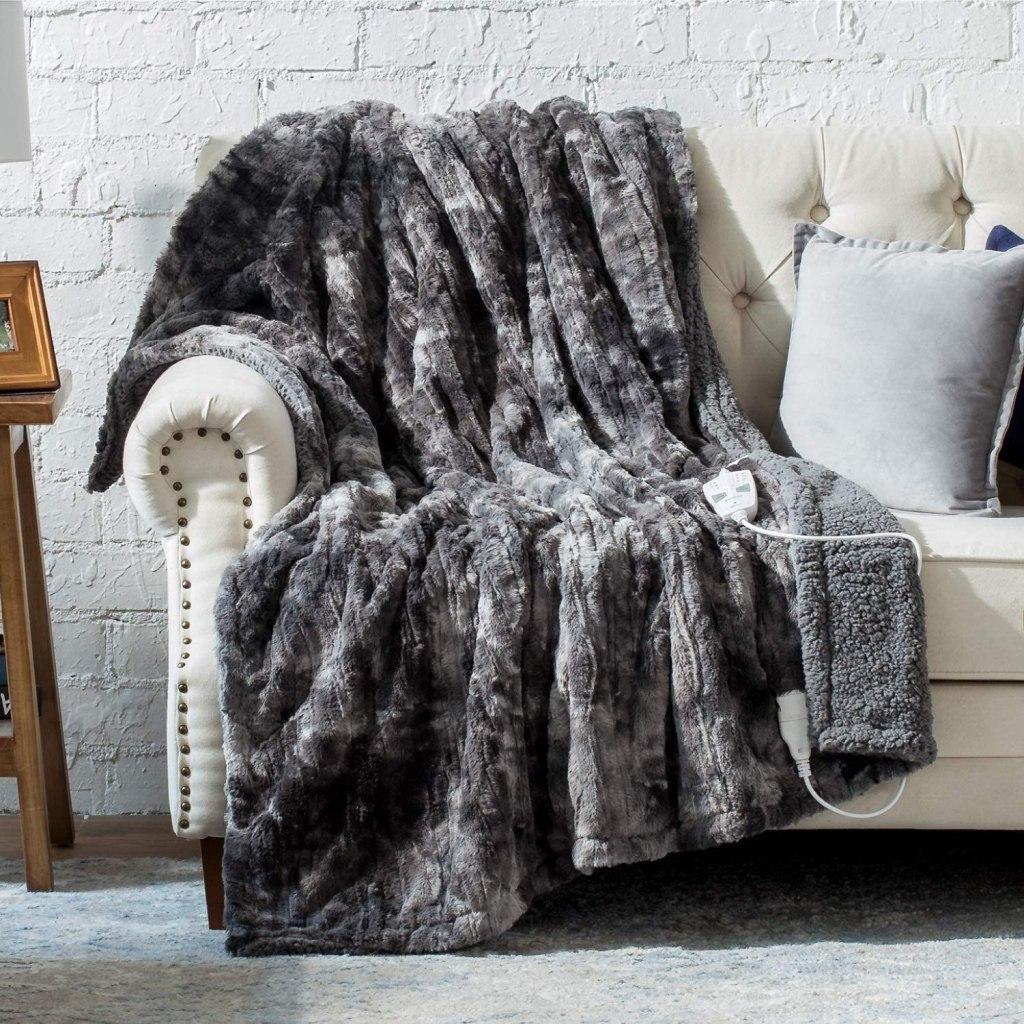 bedsure heated blanket, amazon