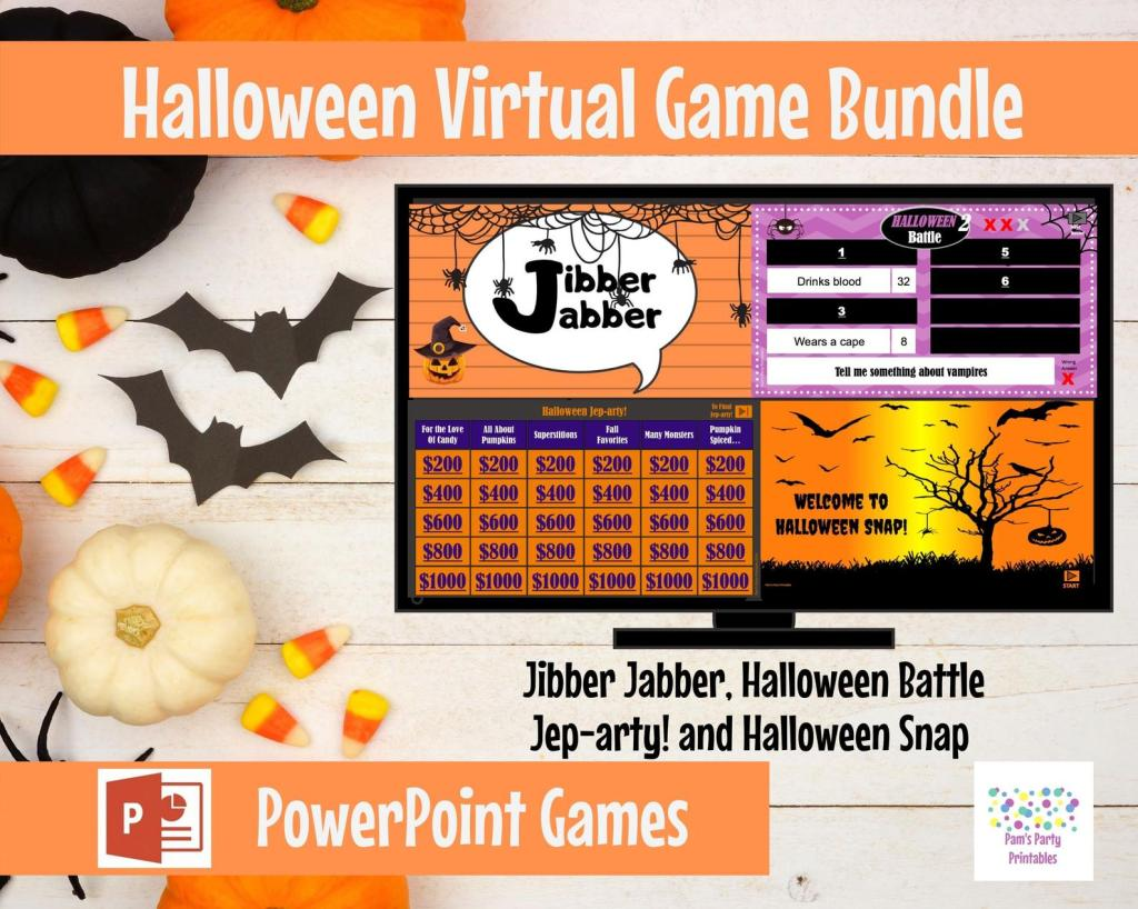 Halloween Game Bundle from Etsy