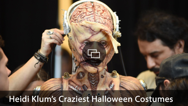 Heidi Klum Photo Call for Heidi Klum Dresses in Halloween Costume with Live Audience, Amazon Prime Bookstore front window, New York, NY October 31, 2019.