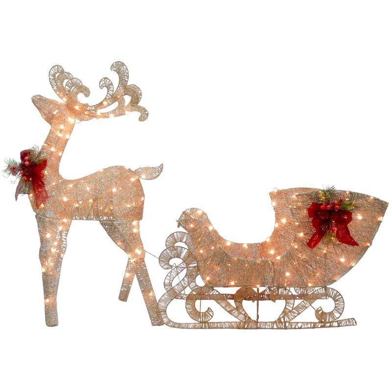 wayfair outdoor decor reindeer