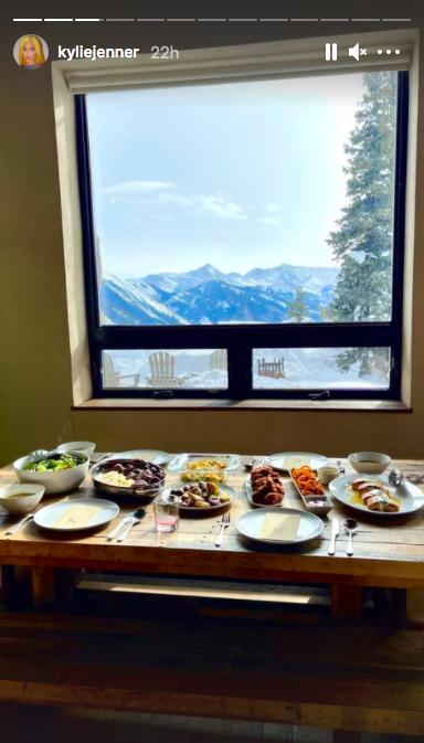Kylie Jenner Instagram Story Aspen Home