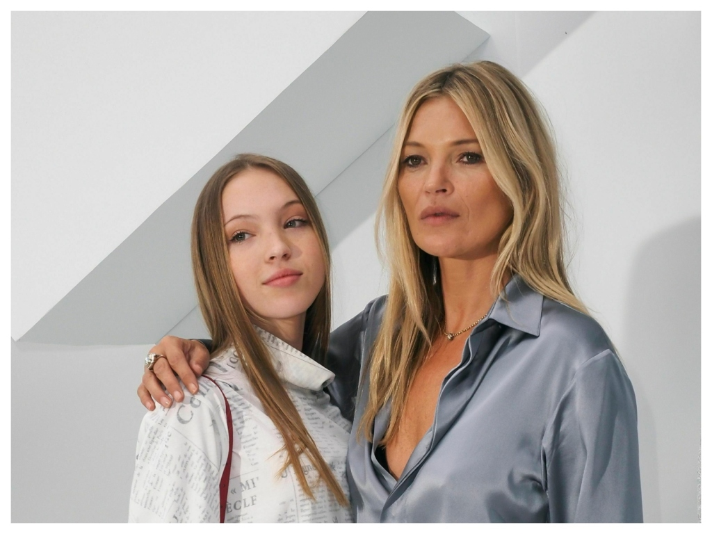 Watch Kate Moss & Lookalike Daughter Lila's First Fashion Show Together