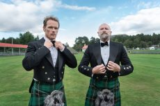 'Outlander' Star Sam Heughan Dances His Way Around Scotland in 'Men in Kilts'