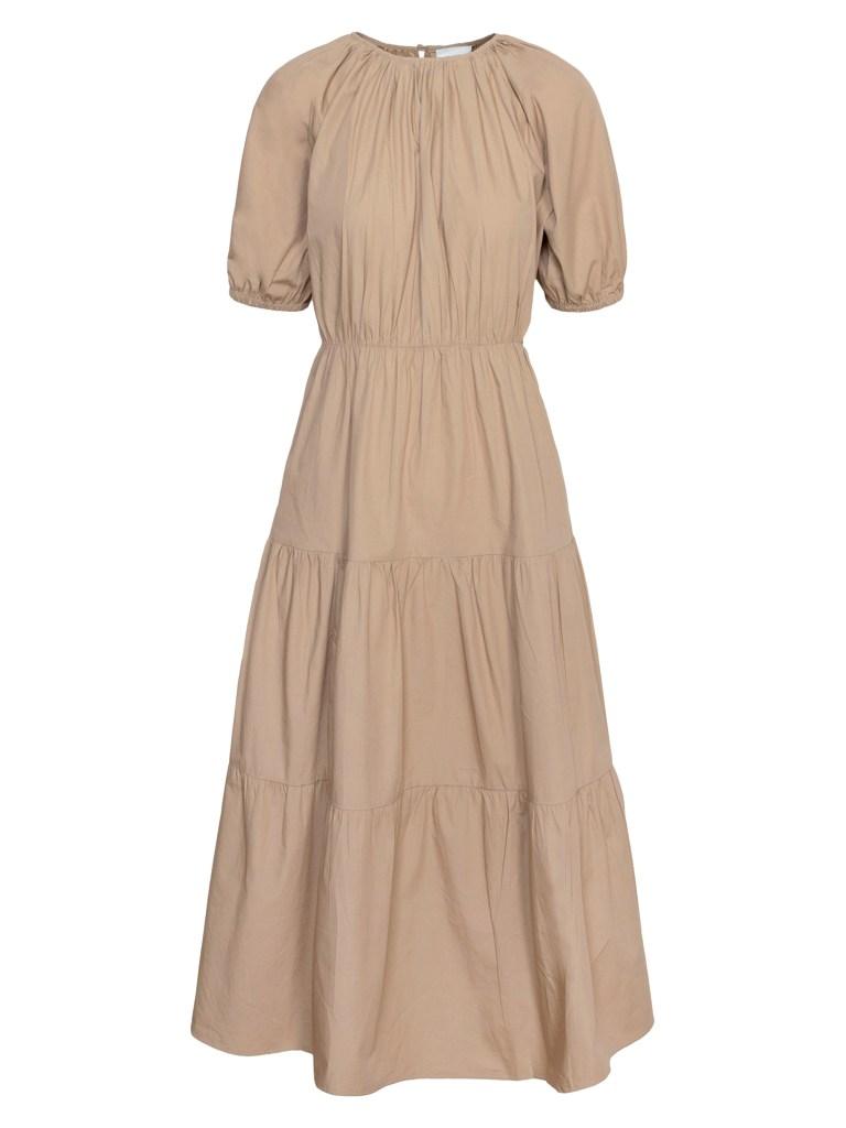 Greylin Poplin Tiered Midi Dress