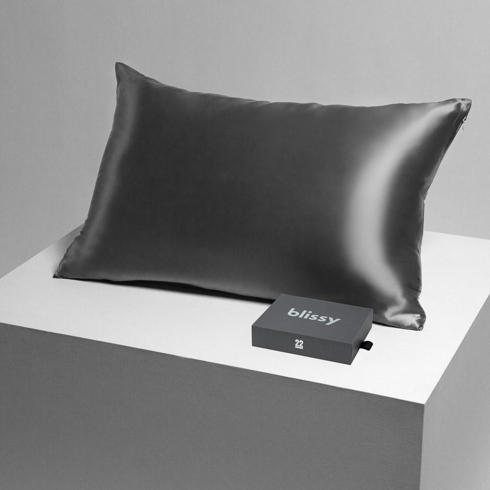 Blissy Gray Silk Pillowcase