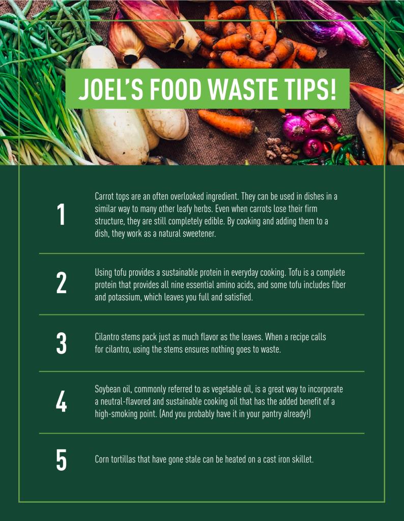 Joel Gamoran Food Waste Tips