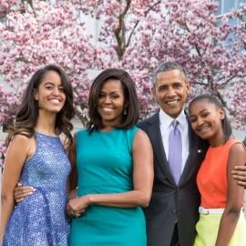 Malia, Michelle, Barack, and Sasha Obama
