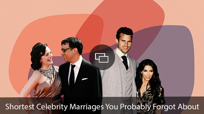 Shortest Celebrity Marriages You Probably Forgot About Elisabeth Moss Fred Armisen Kris Humphries Kim Kardashian