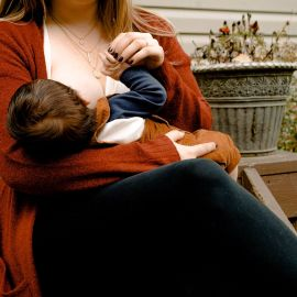 Breastfeeding mother and infant