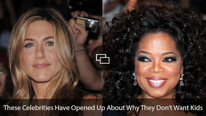 """Jennifer Aniston, Oprah Winfrey """"These Celebrities Have Opened Up About Why They Don't Want Kids"""""""