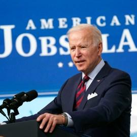 United States President Joe Biden delivers