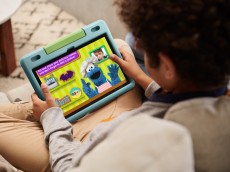 Amazon's New & Improved Kids Fire Tablet Is $80 Off Right Now For Prime Day