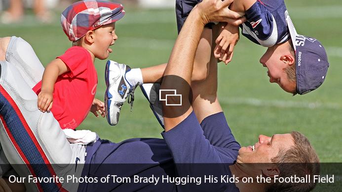 Tom Brady, sons Benjamin and Jack