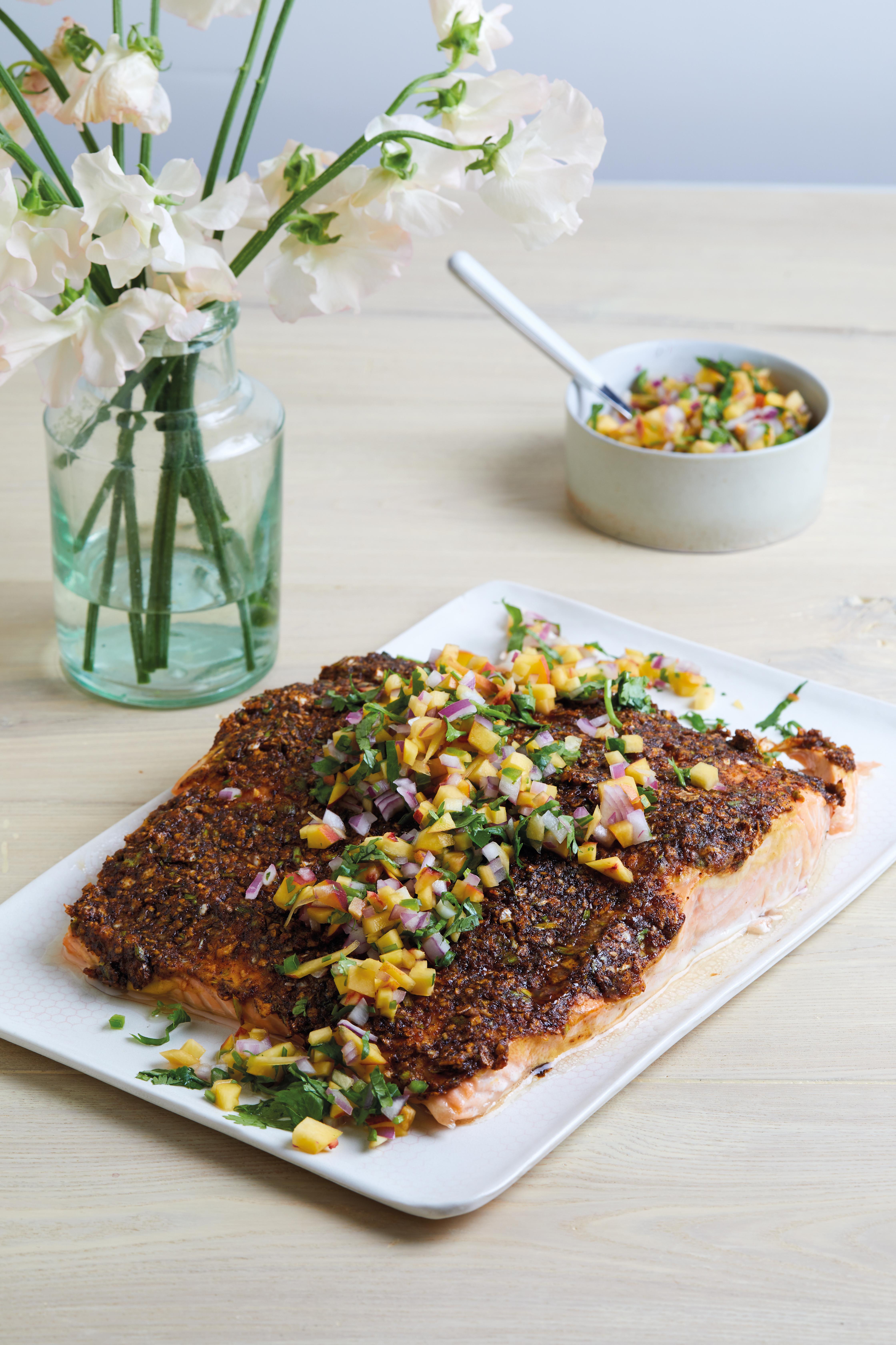 BBQ Potato Chip-Crusted Salmon