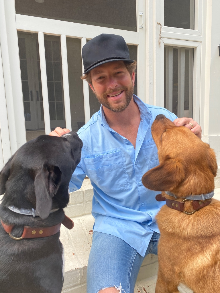 Chris with Chloe and Cooper