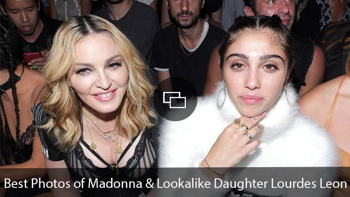 """Madonna, Lourdes Leon """"Best Photos of Madonna & Lookalike Daughter Lourdes Leon"""""""