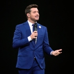 Michael Buble performs at the Allstate