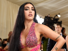 Madonna's Daughter Lourdes Leon Is Baring It All in This Incredible Teal Latex Look for the Savage x Fenty Show